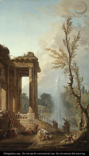 The Portico of a Country Mansion 1773 - Hubert Robert