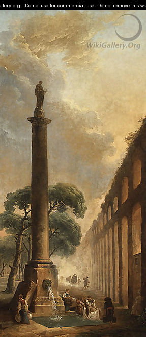 The Fountain - Hubert Robert