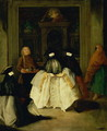 Masked Figures in a Venetian Coffee House - Pietro Longhi