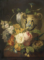 Flowers by a Stone Vase 1786 - Pieter Faes