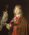 Portrait of a Boy with a Falcon - Wallerant Vaillant