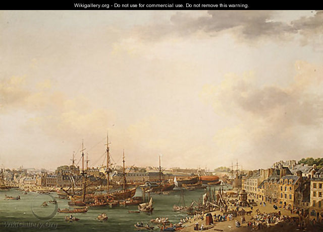 The Outer Harbor of Brest 1773 - Louis Nicolael van Blarenberghe