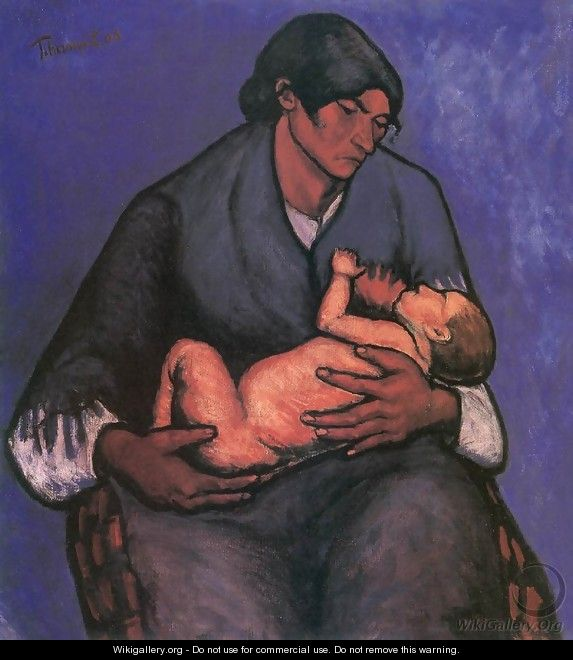 Gipsy Woman with Child 1908 - Johannes Lingelbach