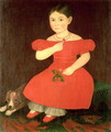 Portrait of a girl in a red dress - Ammi Phillips