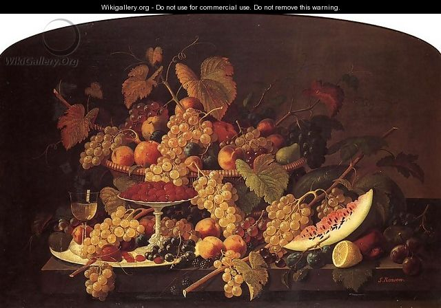 Still Life with Fruit Date unknown 4 - Severin Roesen