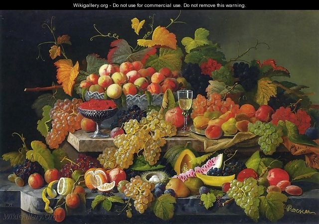 Still Life with Fruit 1857 - Severin Roesen