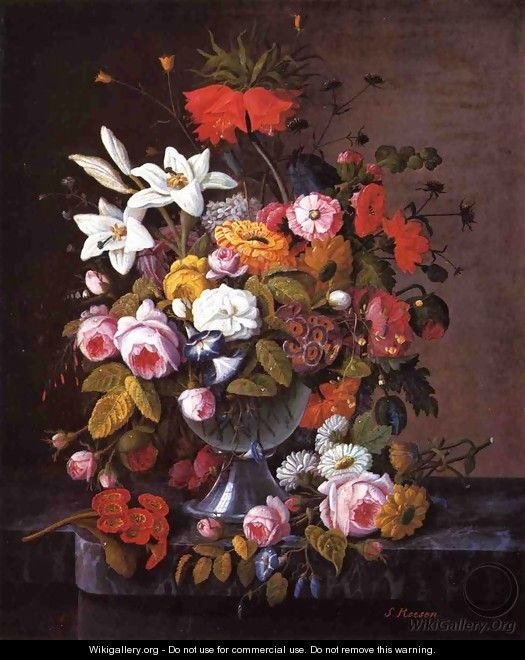 Still Life with Flowers Date unknown 3 - Severin Roesen