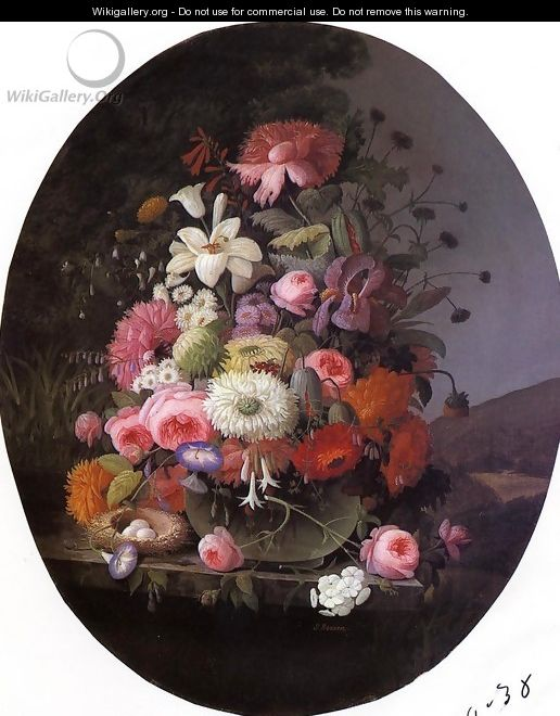 Still Life with Flowers Date unknown - Severin Roesen