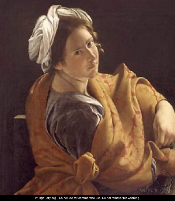 Portrait of a Young Woman as a Sibyl 1620 - Orazio Gentileschi