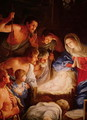 The Adoration of the Shepherds detail of the group surrounding Jesus - Guido Reni