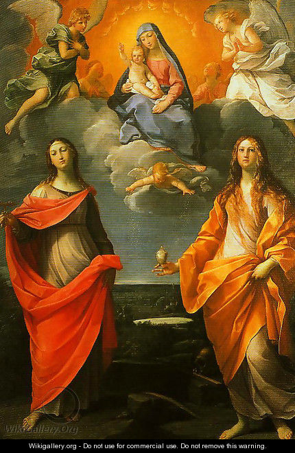 Madonna of the Snow with SS Lucy and Mary Magdalen - Guido Reni