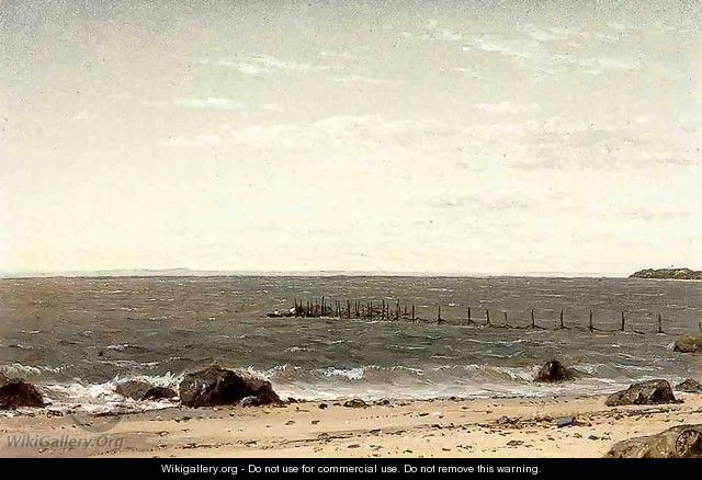 New England Beach Scene No dates listed - John William Casilear