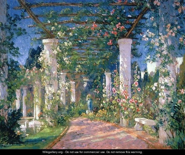 Pergola at the Hotel Samarkand Santa Barbara - Colin Campbell Cooper