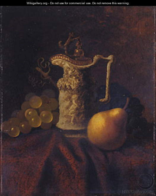 Still Life with Ewer and Fruit - Carducius Plantagenet Ream