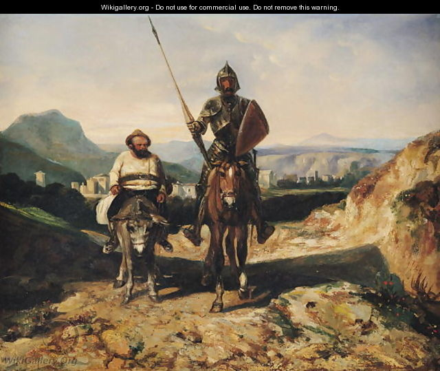 Don Quixote and Sancho - Alexandre Gabriel Decamps