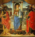 St Barbara between SS John the Bapist and Matthew - Cosimo Rosselli