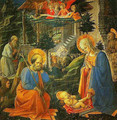 The Adoration with SS Joseph Jerome Mary Magdalen and Ilarion - Filippino Lippi