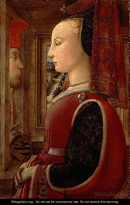 Portrait of a Woman and a Man at a Casement ca 1440 - Filippino Lippi