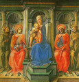 Madonna Enthroned with Four Saints Tempera on panel - Filippino Lippi