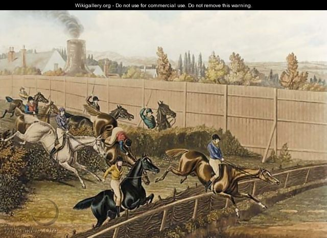 The last grand steeplechase at the Hippodrome racecourse, Kensington - (after) Henry Jnr Alken