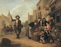A vegetable market - (after) Jan Victors