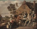 Card players outside a tavern - (after) Jan Miense Molenaer