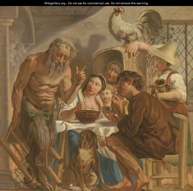 The Satyr and the Peasant - (after) Jacob Jordaens