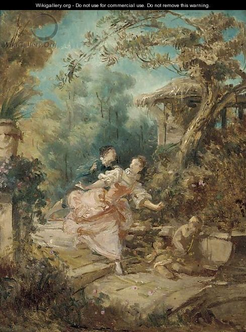 The Pursuit - Jean-Honore Fragonard
