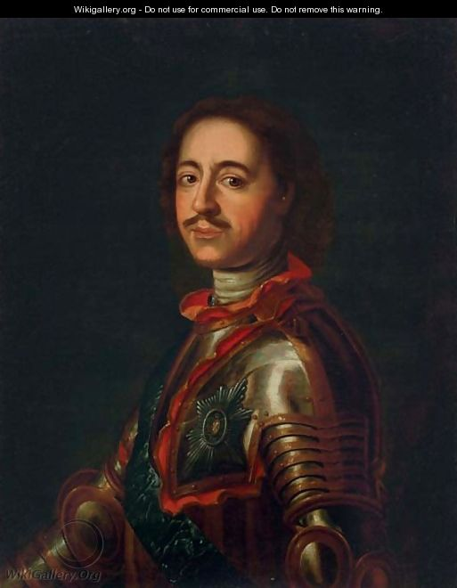 Portrait of Peter the Great - Jean-Marc Nattier