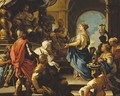 The Queen of Sheba offering gifts to King Solomon - (after) Luca Giordano