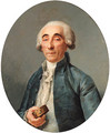 Portrait of Jean-Franois Lagrenee, bust-length, wearing a grey coat and a cravat, holding a snuff box - Joseph Siffrein Duplessis