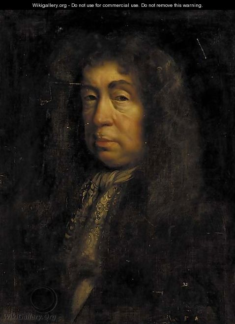 Portrait of the Duke of Layderdale, half-length, in a dark coat and lace jabot - (after) John Riley