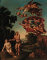 The Expulsion from the Garden of Eden - (after) Domenichino (Domenico Zampieri)