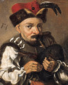 A man playing the bagpipes - (after) Frans Hals
