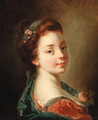 A girl with flowers in her hair - (after) Francois Boucher