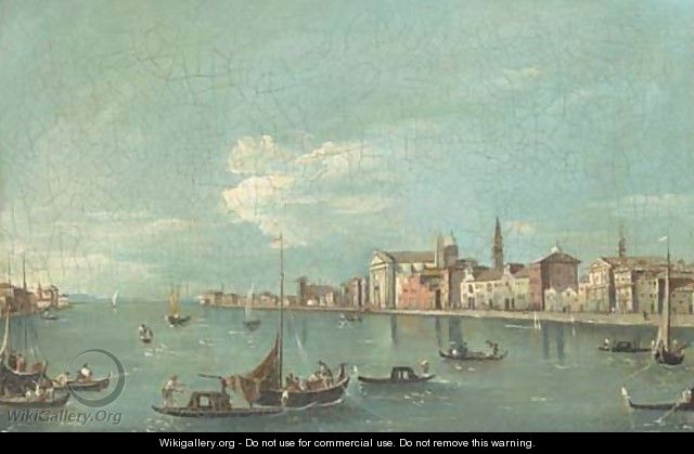 The Giudecca, Venice, with the Zattere - Francesco Guardi
