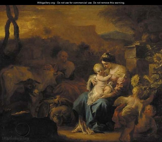 The Rest on the Flight into Egypt - (after) Francesco Solimena