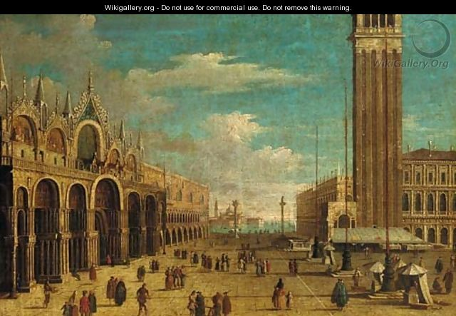 The Piazza San Marco, Venice, looking south - (Giovanni Antonio Canal) Canaletto