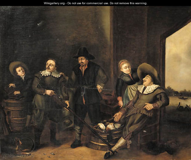 Sportsmen in a tavern after the chase - Gerrit van Donck
