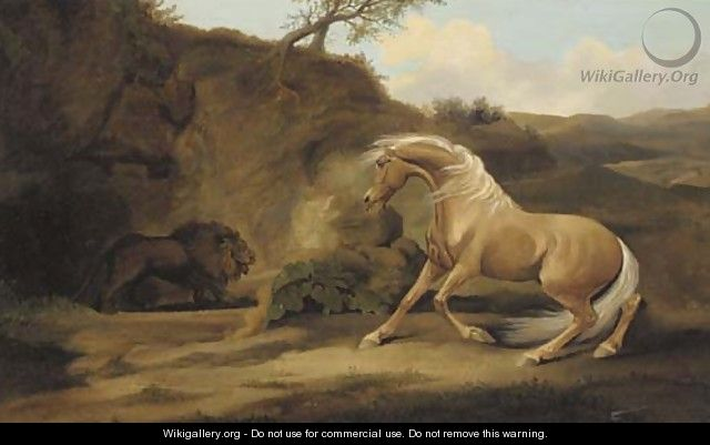 A horse startled by a lion - George Stubbs