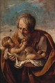 Joseph with the Christ child in his arms - (after) Guido Reni