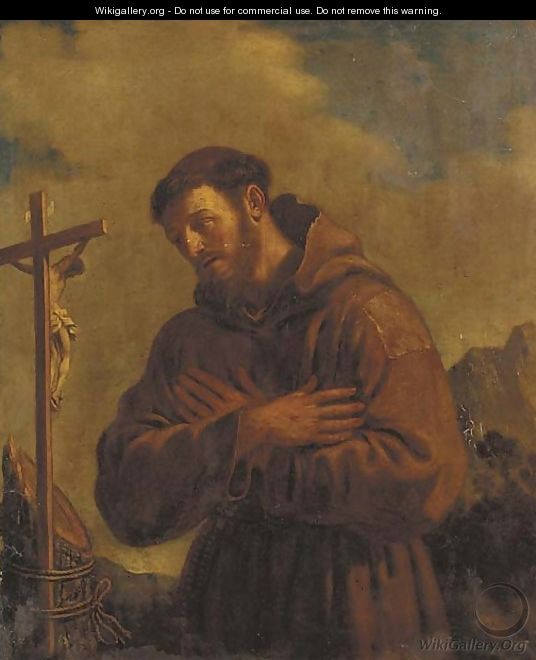 Saint Francis of Assisi - Giovanni Francesco Guercino (BARBIERI)