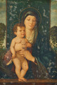 The Madonna and Child enthroned in a landscape - (after) Giovanni Bellini