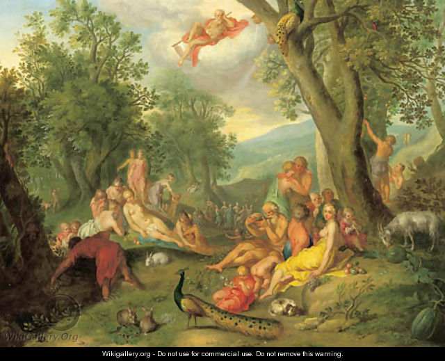 The Golden Age - (after) Abraham Bloemaert - WikiGallery.org, the ...