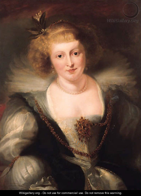 Portrait of Helena Fourment in a richly ornate dress - (after) Rubens, Peter Paul