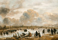 Landscape with skaters - Aert van der Neer