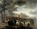 Skaters on the river - Aert van der Neer