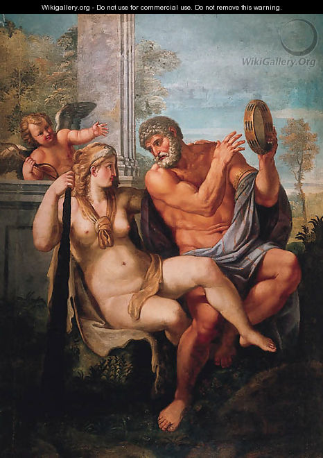 Hercules and Omphale - (after) Annibale Carracci