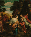 Christ and the woman of Samaria - (after) Annibale Carracci
