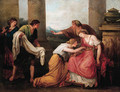 Julia, wife of Pompey, faints at the sight of his bloodstained garment - (after) Kauffmann, Angelica